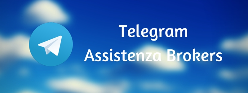 TELEGRAM: nasce il canale di Assistenza Brokers
