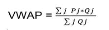 Formula del VWAP (volume weighted average price)