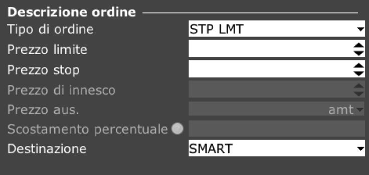 Ordine STP LMT TWS