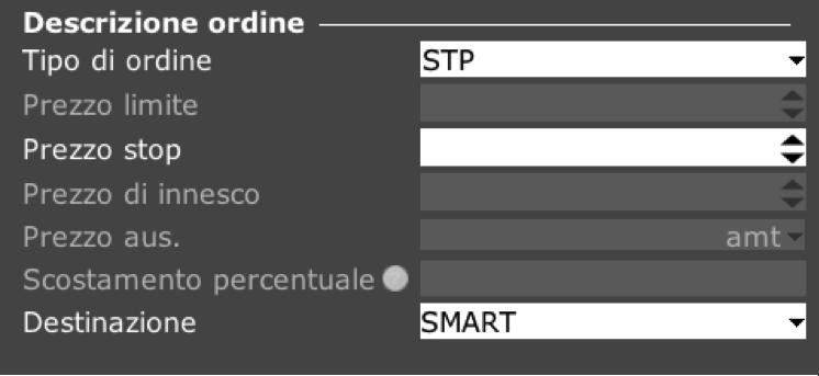Ordine STP TWS