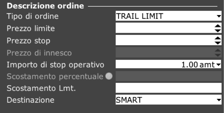 Ordine TRAIL LMT TWS